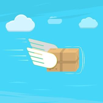 Service de livraison rapide illustration vectorielle plane.