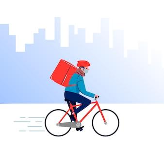 Service de livraison avec thème illustré de masque