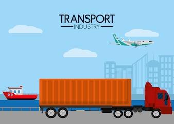 Service maritime de l'industrie des transports