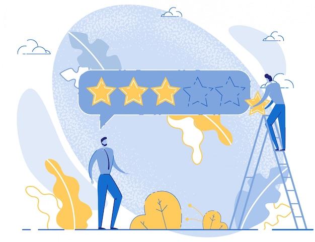 Service média, travail d'équipe ou évaluation d'entreprise