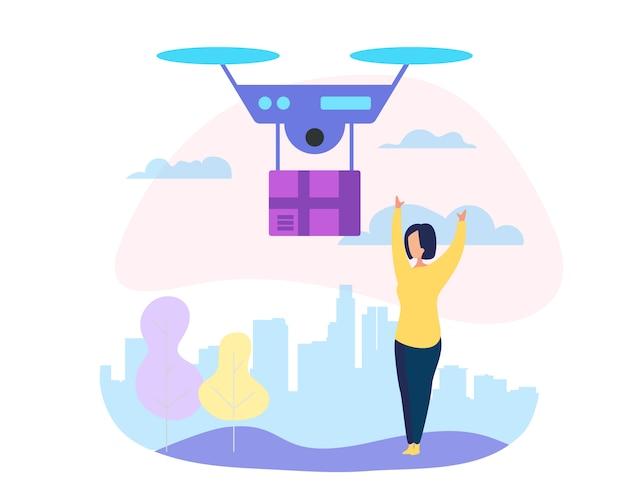 Service de messagerie drone