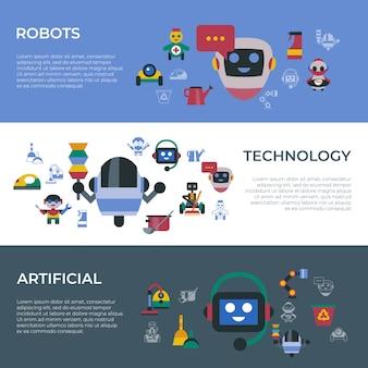 Service et nettoyage des icônes de robots domestiques