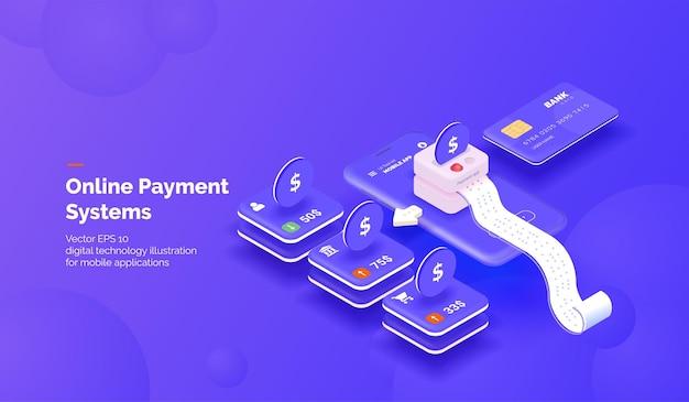 Service de paiement en ligne application mobile de paiement avec divers outils de transfert d'argent