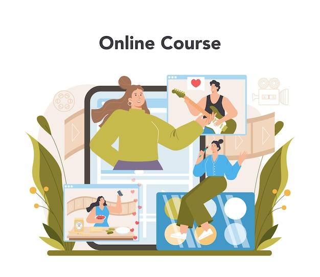 Service ou plate-forme en ligne de blogueur vidéo