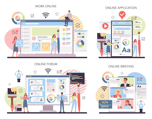 Service ou plate-forme en ligne de conception web