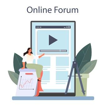 Service ou plate-forme en ligne de mathématicien. chercheur de mathématicien
