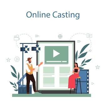 Service ou plateforme en ligne d'acteurs et d'actrices