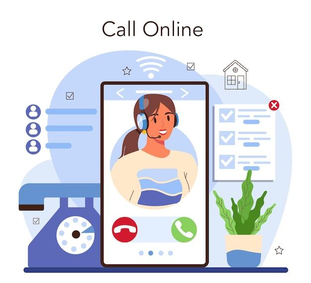 Service ou plateforme en ligne d'agence immobilière. achat immobilier