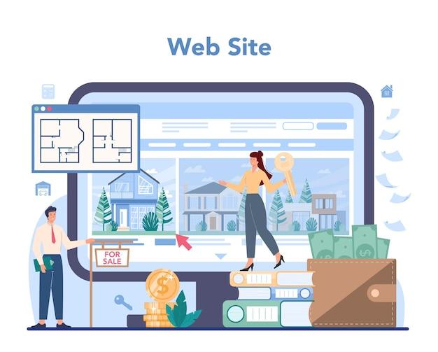 Service ou plateforme en ligne d'agent immobilier ou d'agent immobilier qualifié