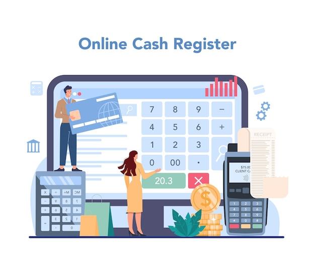 Service ou plateforme en ligne de caissier