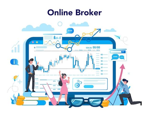Service ou plateforme en ligne de courtier financier