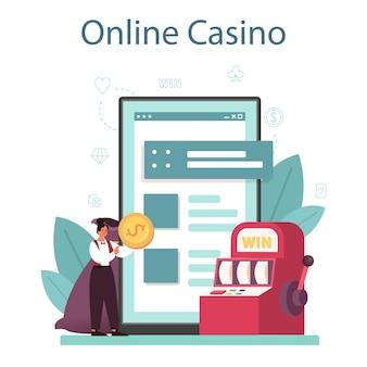 Service ou plateforme en ligne croupier