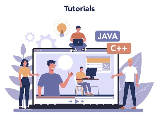 Service ou plateforme en ligne de développement frontend