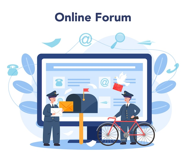 Service ou plateforme en ligne du facteur