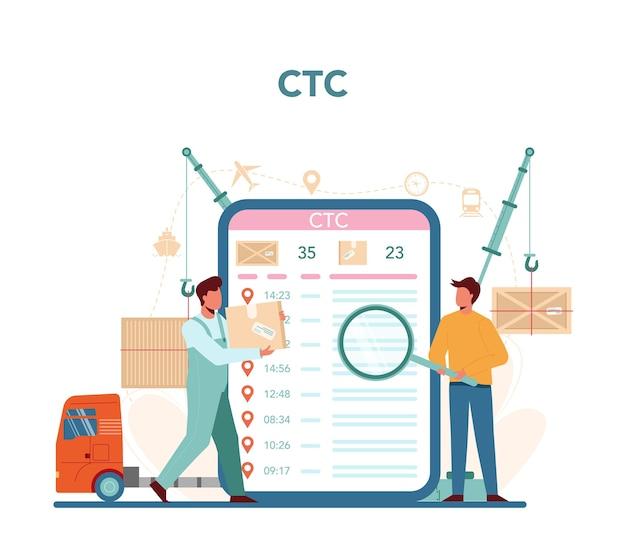 Service ou plateforme en ligne du transitaire