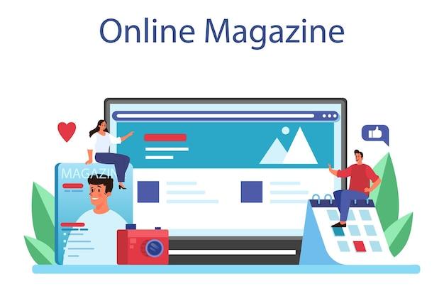 Service ou plateforme en ligne d'éditeur de magazine