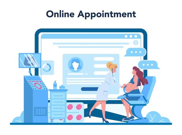 Service ou plateforme en ligne de gynécologue