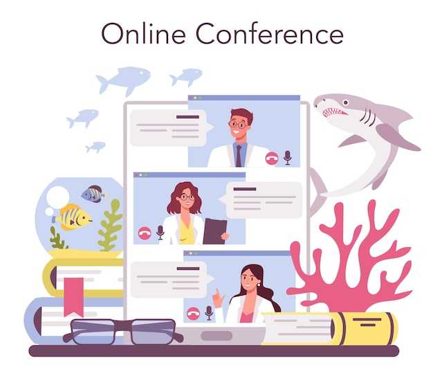 Service ou plateforme en ligne d'ichtyologiste