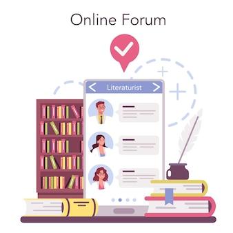 Service ou plateforme en ligne de littératuriste professionnel