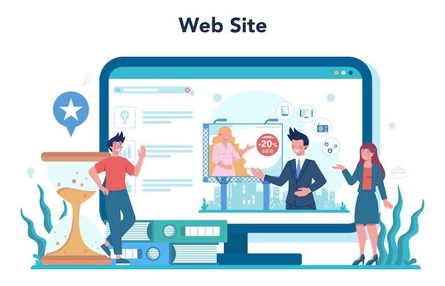 Service ou plateforme en ligne de marketing