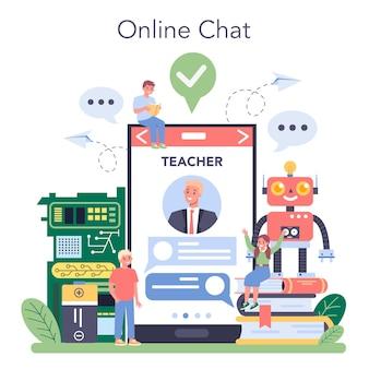 Service ou plateforme en ligne sur les matières scolaires de robotique
