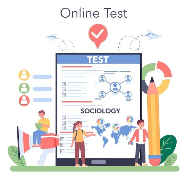 Service ou plateforme en ligne sur les matières scolaires de sociologie