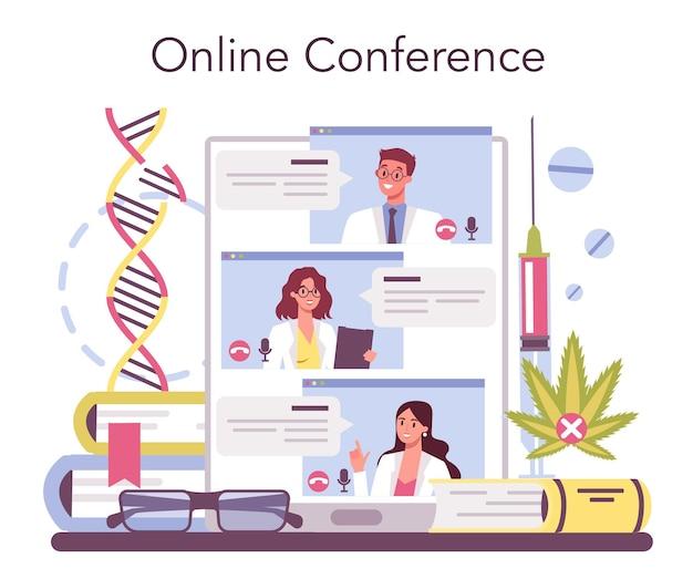 Service ou plateforme en ligne de narcologue