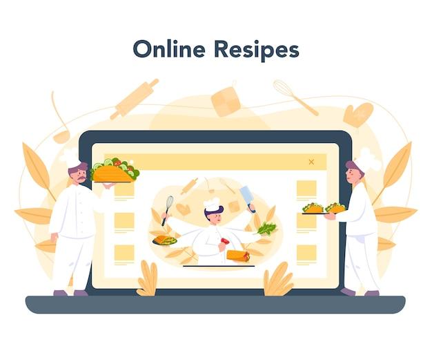 Service ou plateforme en ligne de nourriture de rue shawarma