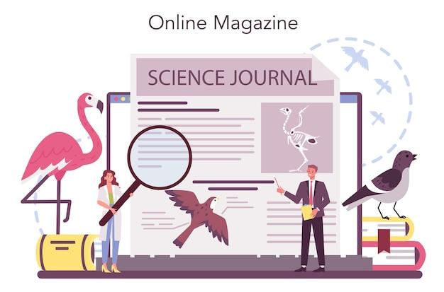 Service ou plateforme en ligne d'ornithologue