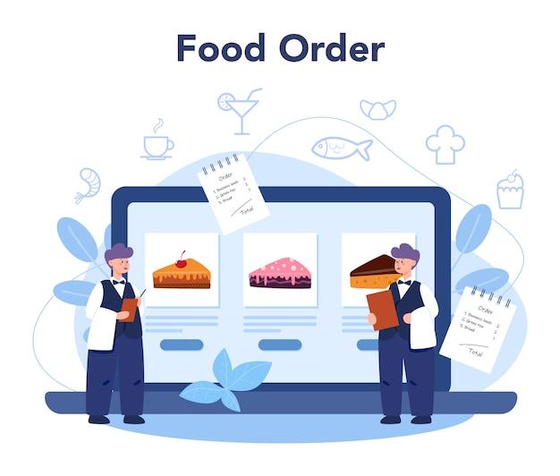 Service ou plateforme en ligne de restaurant