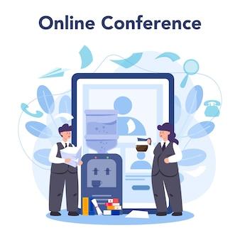 Service ou plateforme en ligne de secrétariat