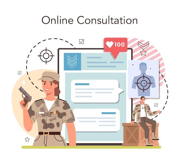 Service ou plateforme en ligne de soldat