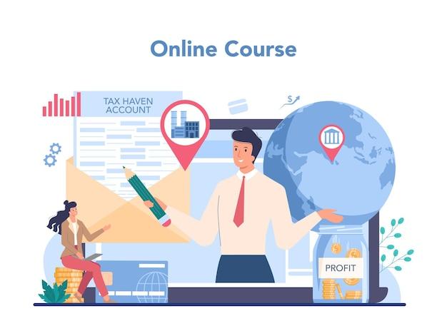 Service ou plateforme en ligne spécialisé offshore.