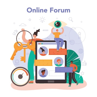 Service ou plateforme en ligne spécialiste du référencement. idée de moteur de recherche
