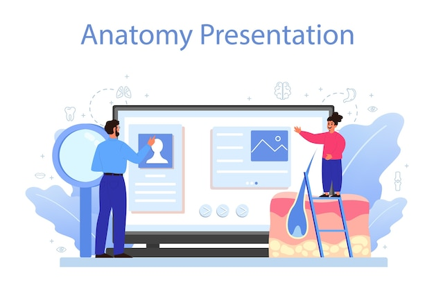 Service ou plateforme en ligne sur les sujets anatomiques