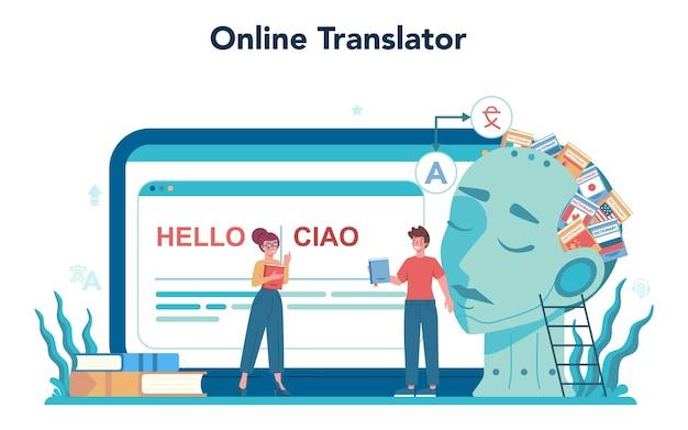 Service ou plateforme en ligne de traducteur et de traduction
