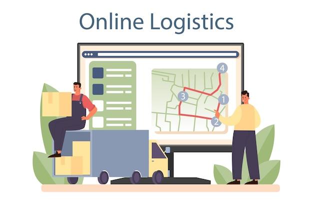 Service ou plateforme en ligne de transitaire