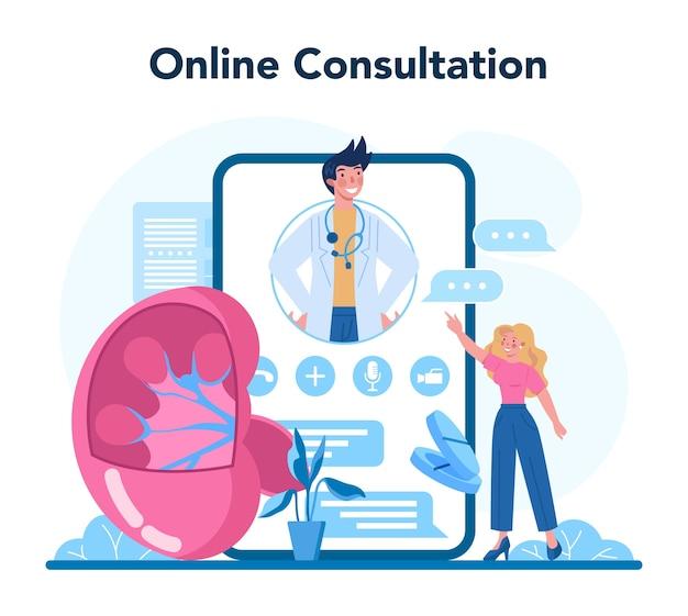 Service ou plateforme en ligne d'urologue