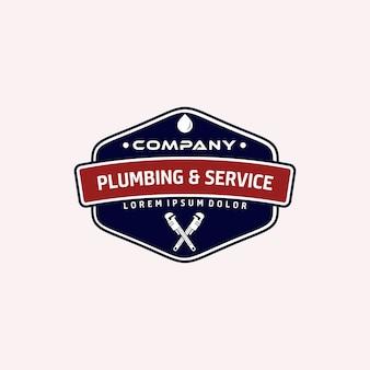 Service de plomberie et de logos d'époque