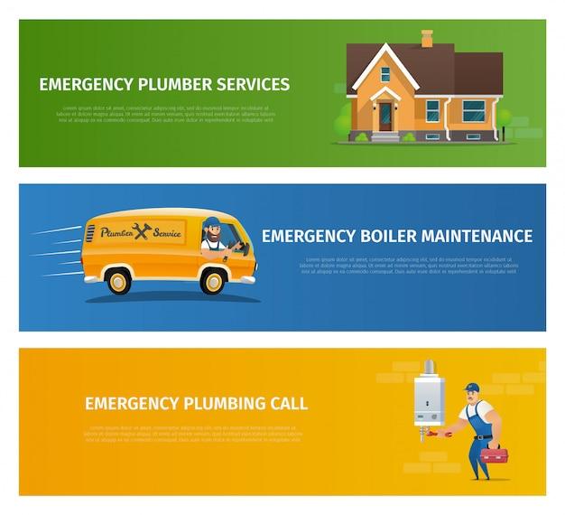 Service de plombier vector illustration concept