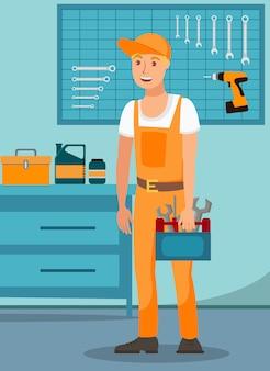 Service professionnel réparateur