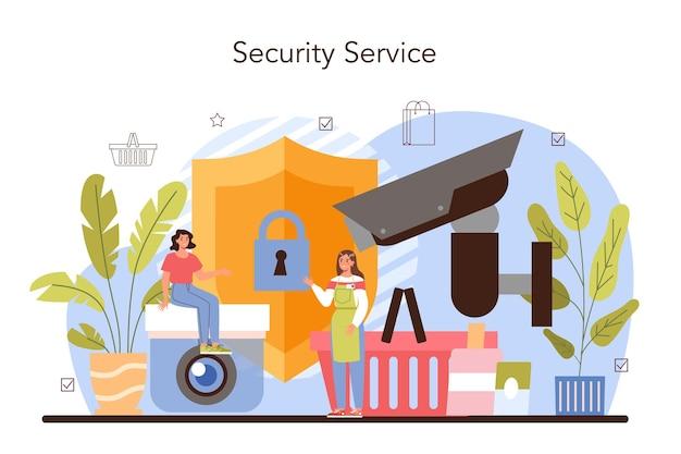 Service de protection de magasin de sécurité d'entrepôt d'activités commerciales