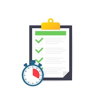 Service rapide, solution simple, gestion de projet, presse-papiers d'enquête.