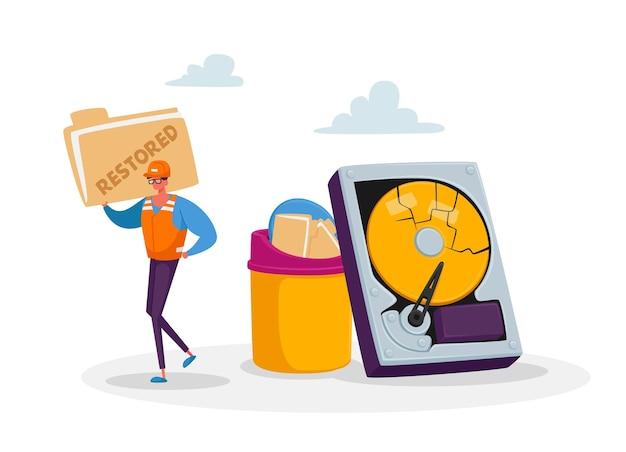 Service de récupération de données, sauvegarde et protection, concept de réparation de matériel