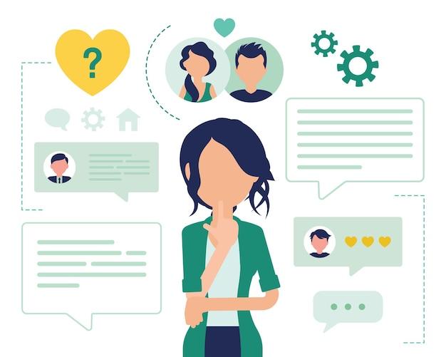 Service de rencontres pour utilisatrice