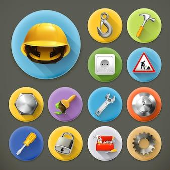 Service et réparation, jeu d'icônes grandissime