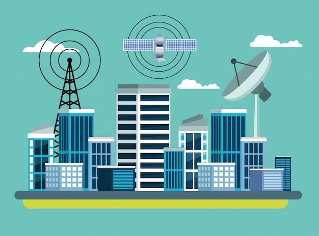 Service satellite de localisation gps