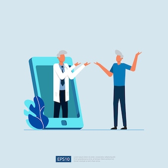 Service de soins de santé en ligne et conseils médicaux.