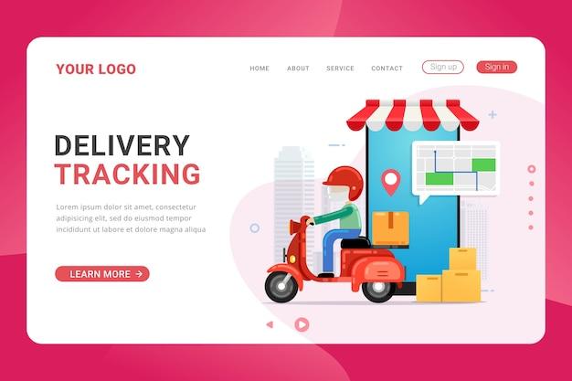 Service de suivi de livraison de modèles de page de destination