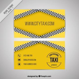 Service de taxi, carte de visite